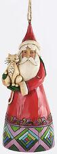 Jim Shore, Heartwood Creek, Weihnachtsmann mit Katze, Hängefigur, 4034401