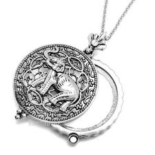 "Silver 5X Magnifying Glass Lady Luck Elephant Pendant 31"" Chain Necklace SJ024S"