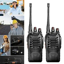 2 x Baofeng BF-888S UHF 400-470MHz Walkie Talkie Two Way Radio+Free earpiece ED