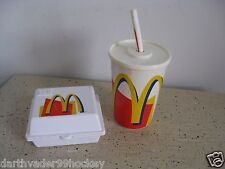 HAPPY MEAL FISHER PRICE FUN FOOD McDONALDS ● DRINK SIPPING SOUNDS + BOX ~ RARE!