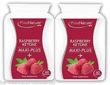 120 Raspberry Ketone Maxi Plus + Acai Berry African Mango & Green Tea Diet Pills