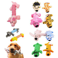 Pet Puppy Chew Squeaker Squeaky Plush Sound Pig Elephant Duck Ball Dog~Toys