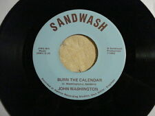 "JOHN WASHINGTON ""Daddy Teddybear /Burn the Calendar"" Ohio Northern SANDWASH NM-"