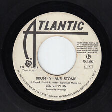 LED ZEPPELIN BRON Y AUR STOMP IMMIGRANT SONG ITALY JUKE BOX 7' PS 45 rpm RECORD