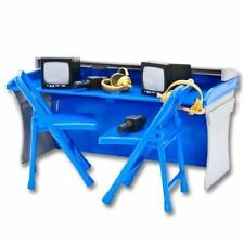 BLUE Commentators Table Playset - Wrestling Figure Accessories WWE/TNA