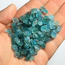 RARE 50g NATURAL RAW light blue APATITE CRYSTAL GEM STONE