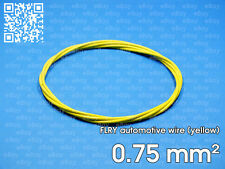 Automotive wire FLRY 0.75mm², yellow color, 1 meter length