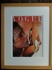 FRAMED vintage genuine vogue collectable picture print art cover photo OCT 1950