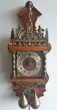 Large Warmink Wall Clock Dutch 8 Day Nut Wood Zaanse Chain Driven Vintage 70s