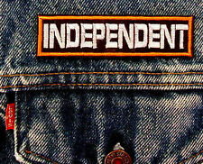 INDEPENDENT Biker Motorcycle Patch by Dixiefarmer 1 X 4  Orange and White