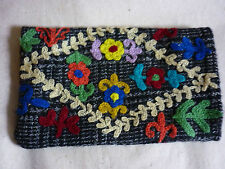 SOFT FABRIC EMBROIDERED PHONE GADGET SLIP CASE COVER
