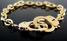 H1 Chain Handcuff Police Law Order BRACELET Goldtone Prisoner Exotic