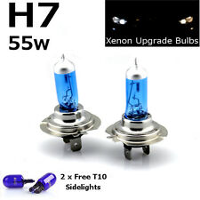 H7 55w SUPER WHITE XENON (499) UPGRADE Head Light Bulbs 12v + W5W T10 Sidelights