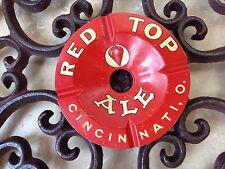 SUPER RARE RED TOP BEER ALE BOTTLE ASHTRAY GULF BREWING CINCINNATI, OHIO 1950's