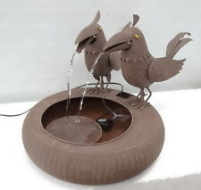 """Water fountain,Metal,two birds,Size:25.5""""×17"""",graceful metal fountain with sound"""