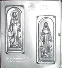 Mary on Plaque Religious Chocolate Candy Mold  412 NEW