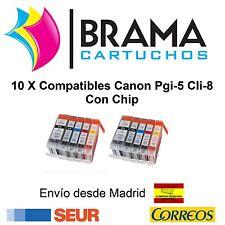 10X COMPATIBLES PARA CANON NON OEM PIXMA MP530 MP600 MP600R MP610 MP800 CON CHIP