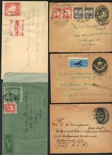 PAKISTAN 1950's COLL OF 5 AIRMAIL COST INDEPENDENCE COVER ALL TO U.S. DIFF TOWNS