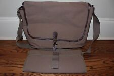 New Pottery Barn Kids Parker Dad Diaper bag & changing pad olive dark green