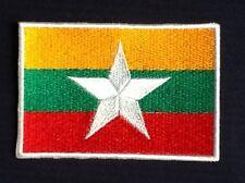 NEW BURMA MYANMAR BURMESE STAR COUNTRY FLAG BADGE IRON SEW ON PATCH BACKPACKER