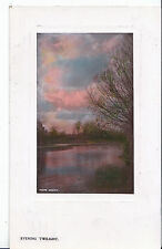 Unknown Location Postcard - Evening Twilight - Showing River Scene   MB1808