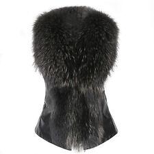 NEW Women Winter Vest Sleeveless Outerwear Coat Faux Fur Casual Waistcoat Jacket