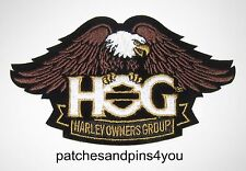 Harley Davidson HOG New Style Eagle Small Patch NEW! FREE U.K. POSTAGE!