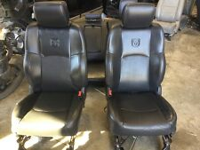 09-15 DODGE RAM 1500/2500/3500 FRONT/REAR BLACK LEATHER CREW CAB BUCKET SEATS