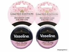 NEW LOT 2 Limited Edition Vaseline Pink Bubbly Lip Therapy Balm Tin