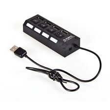 4-Port USB 3.0/2.0 Hub with Independent Switches Black/White