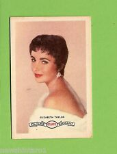 #D160. 1958-64  ATLANTIC PETROLEUM FILM STARS CARD #19  ELIZABETH TAYLOR