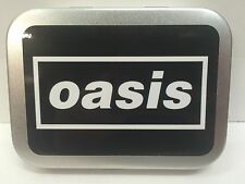 Oasis Rock Pop Band Music Record Retro Cigarette Tobacco Storage 2oz Hinged Tin