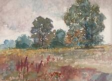 MARCUS ADAMS Watercolour Painting IMPRESSIONIST TREES IN LANDSCAPE c1930