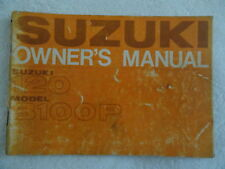 Old Suzuki Motorcycle Owners Manual 120 / Model B100 P