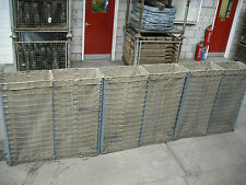 Hesco Bastion, Gabion Wall, lined Ex MOD 3.6mt long 1.2mt high 33cm wide
