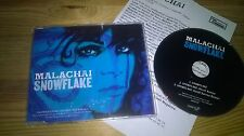 CD Indie Malachai - Snowflake (3 Song) Promo DOUBLE SIX DOMINO REC sc + Presskit