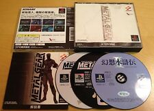 METAL GEAR SOLID NTSC-J JAPANESE JAPAN for SONY PS1, PS2 & PS3 by Konami