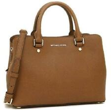 Michael Kors Savannah Medium Satchel ADJ STRAP  Luggage BROWN  NWT