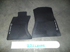 NICE OEM ALL WEATHER FLOOR MATS PAIR LEXUS IS250 IS350 AWD 06-13 BLACK SET