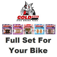 Sintered Full Set Goldfren Brake Pads Honda CBR 600 F 3 -S 1995
