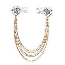 Epingle à Cheveux Pin Doré Art Deco Long Fleur Flacon de Neige Fil Tassel FJ1