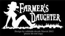 Two Farmer's Daughter Car Decals Sexy Mudflap Cowgirl Decal