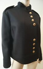 GUCCI Black 100% Wool Gold Tone Button Quilt Lined Winter Jacket 46 UK14 BNWT