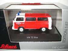 SCHUCO VW T2 BUS POMPIERS KIRCHHEIMBOLANDEN au 1/87 HO