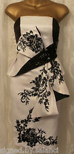 Karen Millen Oriental Bow Floral Embroidery Corset Strapless Party Dress 8 £210