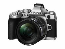 Olympus OM-D EM-1 Compact System Camera - Silver (16.3MP. M.ZUIKO 12-40mm PRO Le