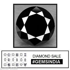 AAA Grade 1.38 Carat Natural Black Diamond for Solitaire 7 mm Round Large Gem