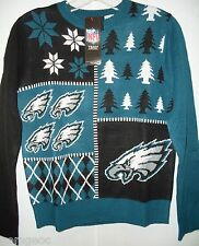 NFL NWT BUSY BLOCK UGLY SWEATER YOUTH -PHILADELPHIA Eagles  - YOUTH LARGE
