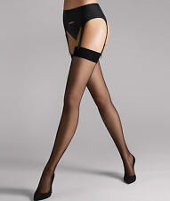 Wolford Individual 10 Stockings Garter Stocking Color Black Ex-Small 21606-07