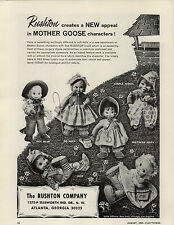 1964 PAPER AD Rushton Toy Plush Stuffed Animal Mother Goose Bo Beep Simple Simon